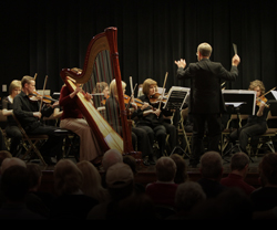 Dr. Michael Palumbo conducting the Chamber Orchestra Ogden in the performance of Concertino for the Harp and Strings.
